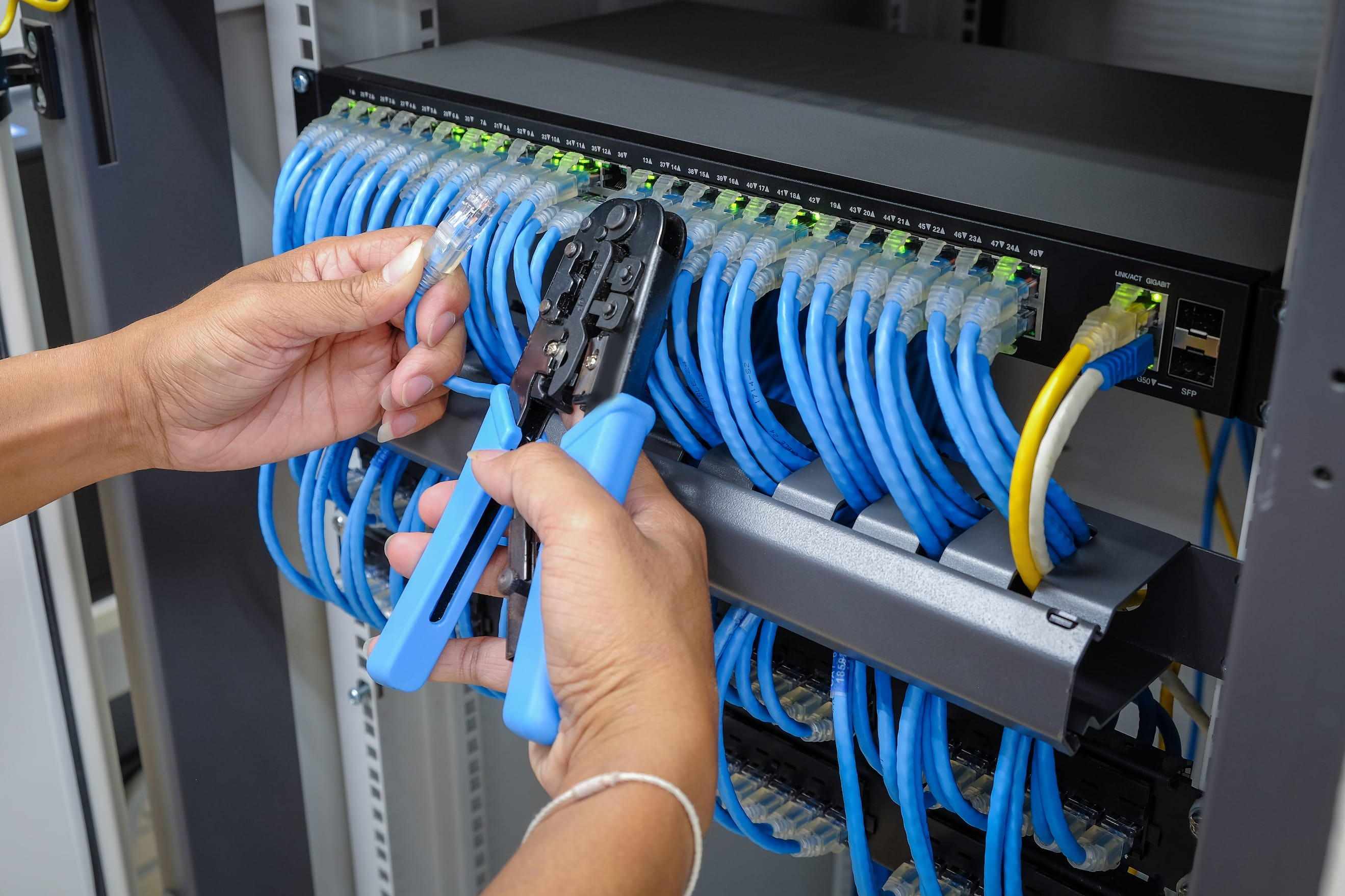 Voice & Data Cabling Installation Services | AVD Inc | AVD on